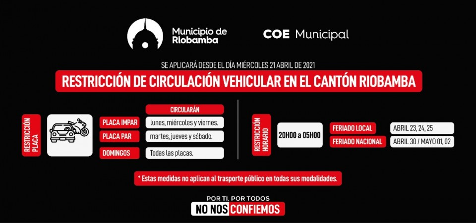 Resoluciones del COE Municipal 19 de abril de 2021